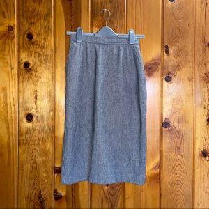 Vintage Evan Picone houndstooth print skirt